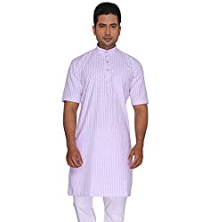 Rajubhai Hargovindas Men's Poly Cotton Kurta (modi_Purple_36)