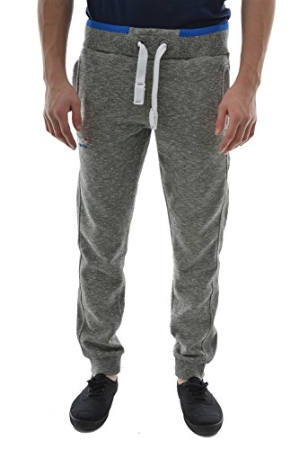 Superdry Uomo Orange Label Logo Joggers, Grigio, Medium