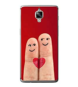 Smiley Fingers 2D Hard Polycarbonate Designer Back Case Cover for OnePlus 3 :: OnePlus Three