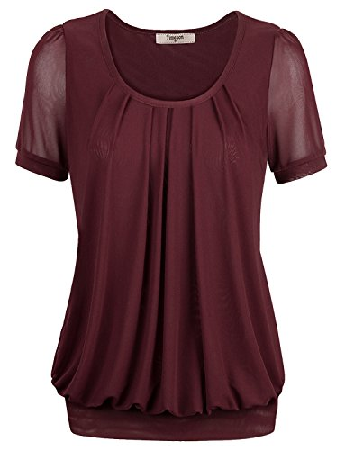 Short Sleeve T-shirt,Timeson Womens Flattering Comfy Day to Work Short Sleeve Tops T-shirt