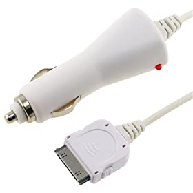 Car Charger for iPod iPhone 3G 3GS (White)