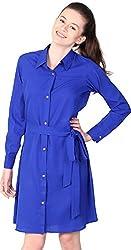 Unimod Women's Plain Dress (Blue, XS)