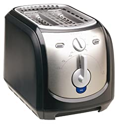 Krups FEM2B 2-Slice Toaster, Black and Silver