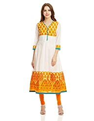 Prakhya Women's Anarkali Kurta (PR010BLACK_XXL)