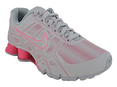 alta calidad baratas venta caliente online bridal wedding dresses gown: Womens Nike Shox Turbo 12 SL Running Shoes  Neutral Grey / Laser Pink 472530-006