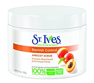 St. Ives Apricot Scrub Naturally Clear Blemish and Blackhead Control, 10 Ounce (Pack of 2)