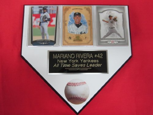 Mariano Rivera New York Yankees 3 Card Collector Home Plate Plaque Exclusive Design To Amazon! front-393878