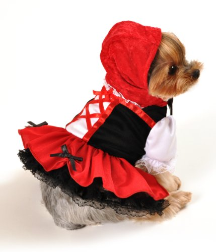 Anit Accessories Red Hood Dress Dog Costume, 16-Inch (Hood Costume Accessories)