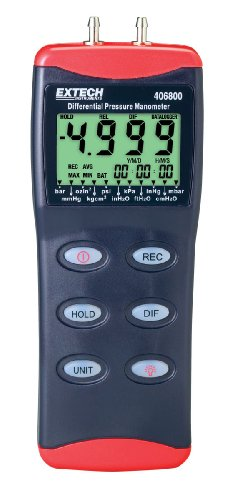 Extech 406800, Pressure Manometer with PC Interface (11 Units) - Extech - EX-406800 - ISBN: B000WTDUKQ - ISBN-13: 0793950468005