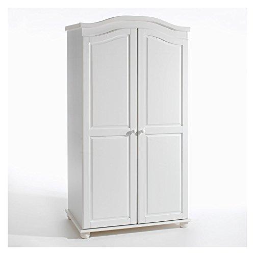 Garderobenschrank-Dielenschrank-Kleiderschrank-DAVOS-Kiefer-2-trig-2-Tren-wei