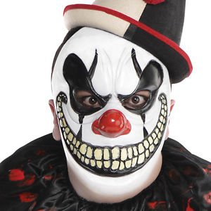 Adults Freak Show Scary Clown Halloween Fancy Dress Costume Accessory Mask (Scary Clown Jack In The Box compare prices)