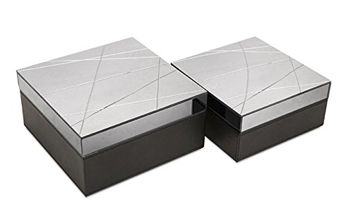 Set of 2 Ryback Contemporary Black Storage Boxes with Sophisticated Glass Tops fundamentals of physics extended 9th edition international student version with wileyplus set
