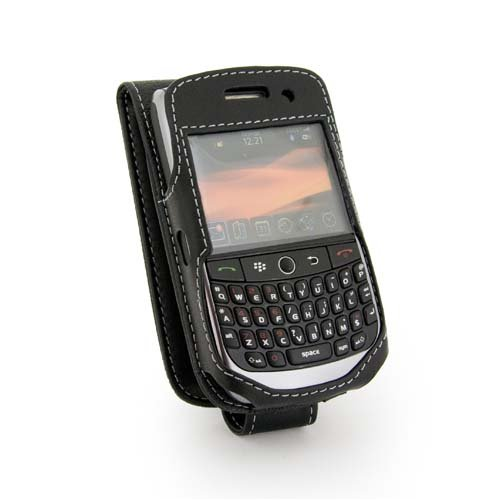 New to Tuff-Luv Leather Case Cover for BlackBerry Gemini Curve 8250 – Black