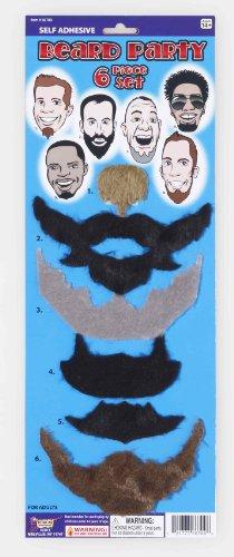 Forum Novelties Self-Adhesive Beard Set (6 Styles)