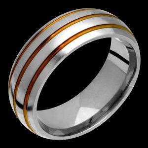 Kamilia - size 4.75 Earth Tone Titanium Band. Choose your Color for Free!