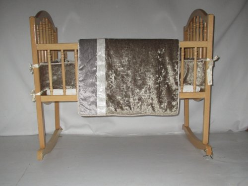Baby Doll Bedding Crocodile Cradle Bedding Set, Olive