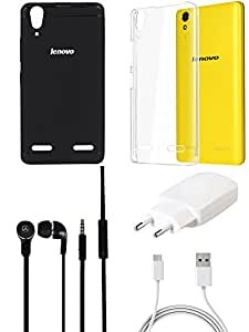 NIROSHA Cover Charger Headphone / Hands Free for Lenovo A6000 - Combo