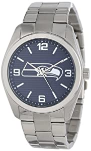 Game Time Unisex NFL-ELI-SEA Elite Seattle Seahawks 3-Hand Analog Watch by Game Time