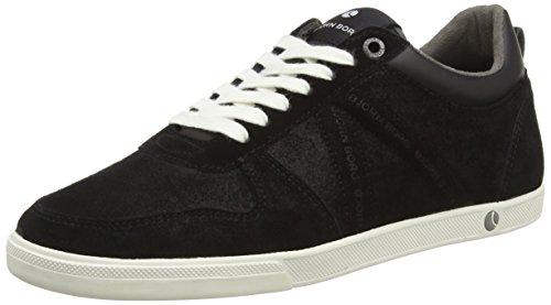 Björn Borg Footwear X100 LOW PSD M, Low-Top Sneaker uomo, Multicolore (Mehrfarbig (BLACK-DARK GREY)), 41