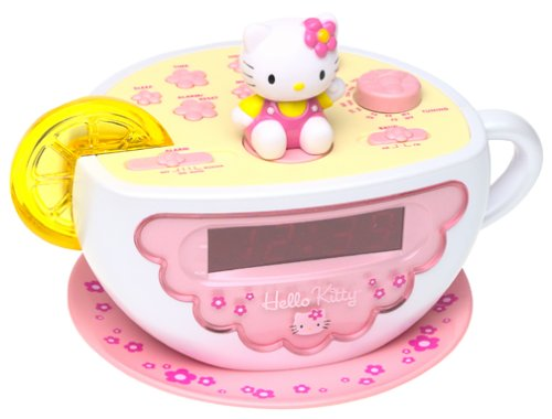 Hello Kitty Tea Cup Clock Radio with Nite Lite