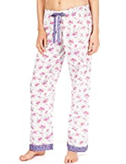 Limited Collection Pure Cotton Patchwork Floral Pyjama Bottoms