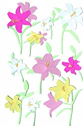 Martha Stewart Crafts Stickers, Lilies