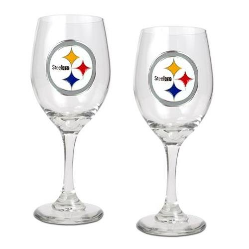 Pittsburgh Steelers Set of 2 Wine Glasses at Amazon.com