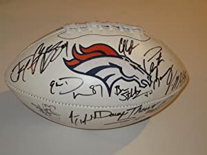 2012 Denver Broncos Team Signed Autograph Football with Certificate of Authenticity... by NFL