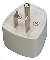 BEcom EU-UK-AU Universal Adapter to USA Canada 3 Pin Travel Adaptor Plug Converter