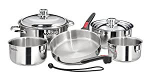 Magma 10 Piece Gourmet Nesting Stainless Steel Cookware Set