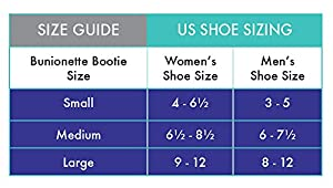 BunionETTE Bootie; Soft Splint for Bunionettes (Tailor's Bunions) Pain (Large, Left Foot) (Color: Left Foot, Tamaño:  Large )