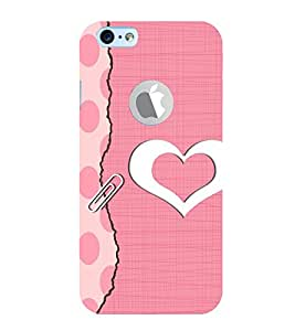 Vizagbeats hearts in pink Back Case Cover for Apple iPhone 6 logo cut