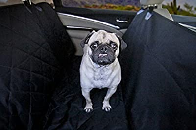 Devoted Doggy Premium Dog Seat Cover with Hammock Feature - Waterproof Material for Back Seat Protection _ Fits Cars, SUVs and Bench in Trucks _ Dogs Love Unique Nonslip Backing with Seat Anchors