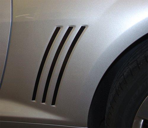 ORIGINAL GILLS : 2010-2015 Chevy Camaro Gill Vent Blackouts Vinyl Graphic Decal Stripes (Color-3M 5095 Matte Black) (Camaro Gill Vent compare prices)