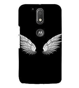 PrintVisa Angel Wings Design 3D Hard Polycarbonate Designer Back Case Cover for Motorola Moto G4 Plus
