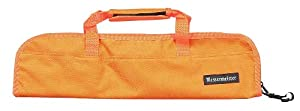 Messermeister 5-Pocket Padded Knife Roll, Orange