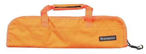 Messermeister 5-Pocket Padded Knife Roll, Orange