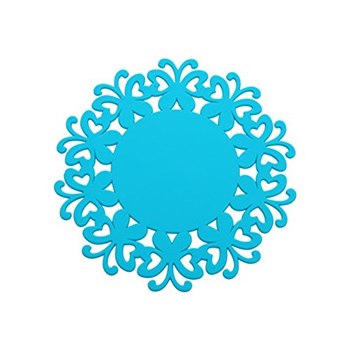 YOKIRIN PVC Untersetzer aus Filz für Tisch und Bar als Glasuntersetzer / Getränkeuntersetzer für Glas und Gläser Tischsets- Blau (Size:Small,Durchmesser:12CM)