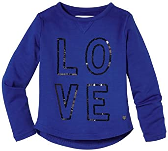 TOM TAILOR Kids Pull Manches longues Fille - Bleu - Blau (6655  bright dazzling blue) - FR : 12 ans (Taille fabricant : 152)