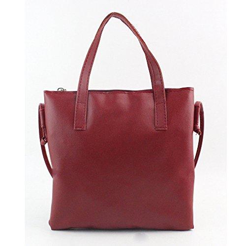 Longra Borsa a tracolla della borsa di modo delle donne (Rosso)