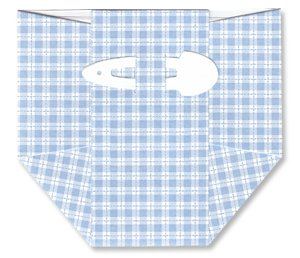 Baby Shower Invitations - Blue Plaid Diapers