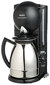 Aroma Electric Coffee Maker : Amazon.com: Krups 229-45 Aroma Control 10-Cup Coffeemaker with Thermal Carafe, Black and ...