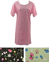Pack of 3 Short Sleeve Fun Print Cotton Nightgowns Plus Size 6X