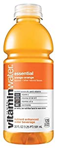 Glaceau Vitamin Water, Essential Orange Carrot, 20-Ounce Bottles (Pack of 24)