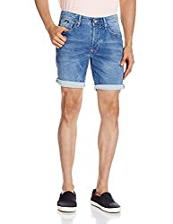GAS Men's Denim Shorts (8056775039426_85412WJ34_36_WJ34 - Blue)