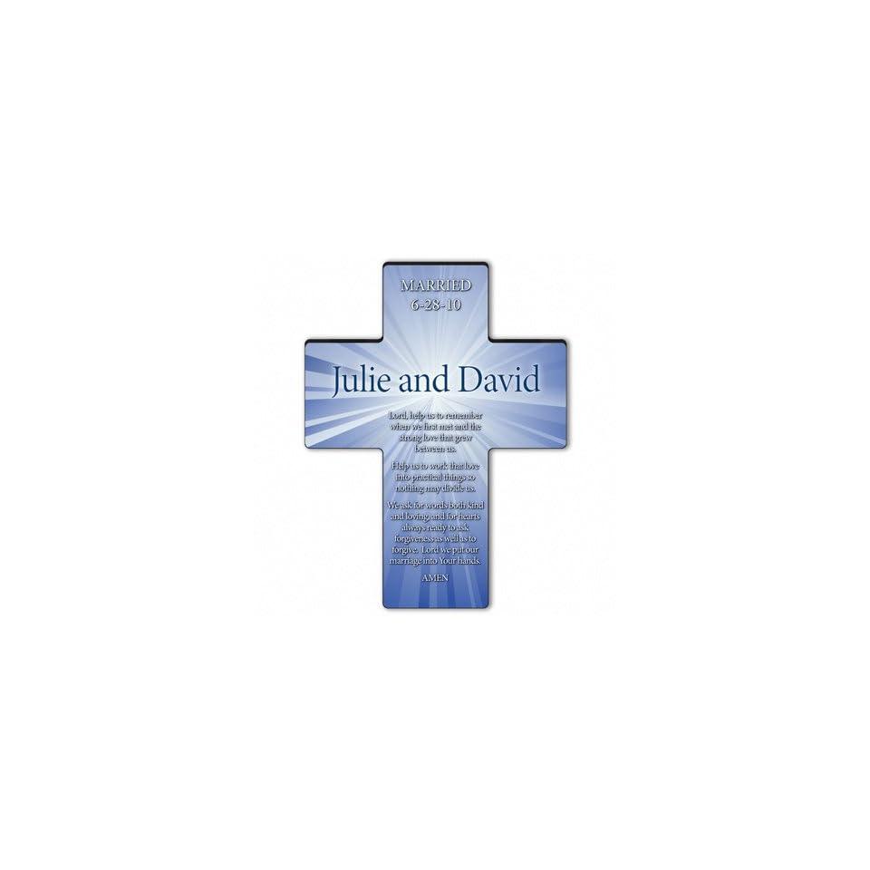 Baby Keepsake Personalized Starburst Cross Marriage Prayer