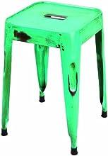 Links 85300206 Melange Lot de 4 Tabourets Métallique Turquoise 33 x 33 x 46 cm