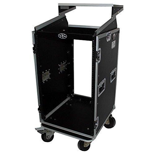 16U Rack x 10U Top Mixer DJ Combo Flight Case w Laptop Shelf (19in Turntables For Shelves compare prices)