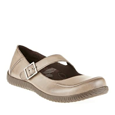 Orthaheel Womens Elisa Mary Jane Light Grey Size 5