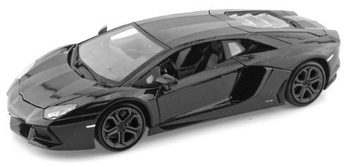 "Lamborghini Matt Black Aventador LP 700-4 1:38 5"" Pull Back Diecast Car"